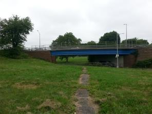 Facing Linden Blvd bridge