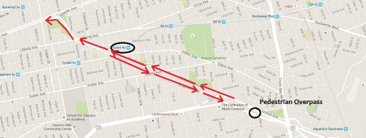 Google Maps image of Conduit walking tour